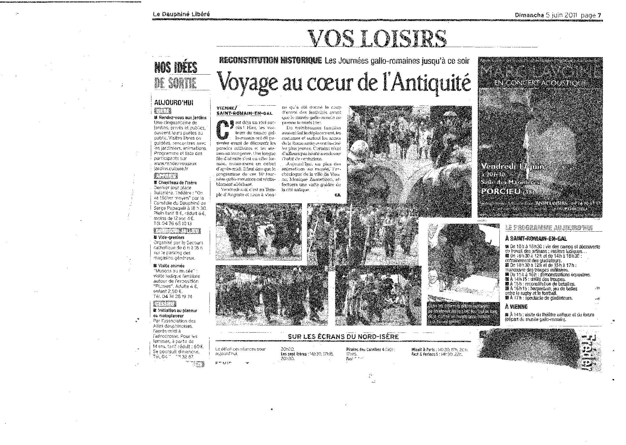 Le Dauphiné Libéré (dimanche 5 juin 2011. Page 7)
